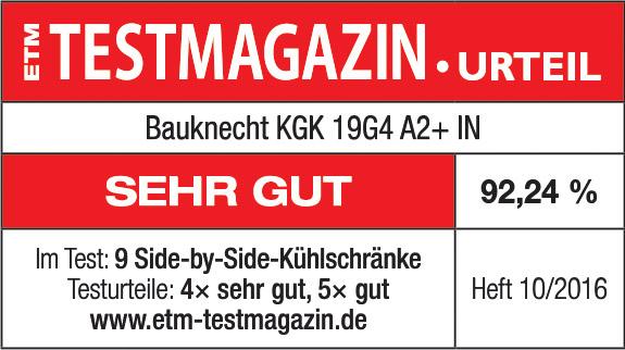 Testlogo Bauknecht Side-by-Side Kühl-/Gefrierkombination KGK 19G4 A2+ IN