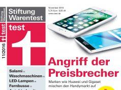 """Für die aktuelle Ausgabe des Magazins """"test"""" (11/2016) hat die Stiftung Warentest 13 Waschmaschinen verglichen."""