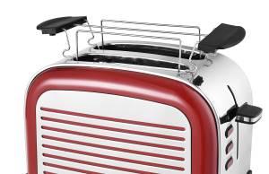 Kalorik Retro Toaster TKG TO 2500 R mit Brötchenaufsatz.