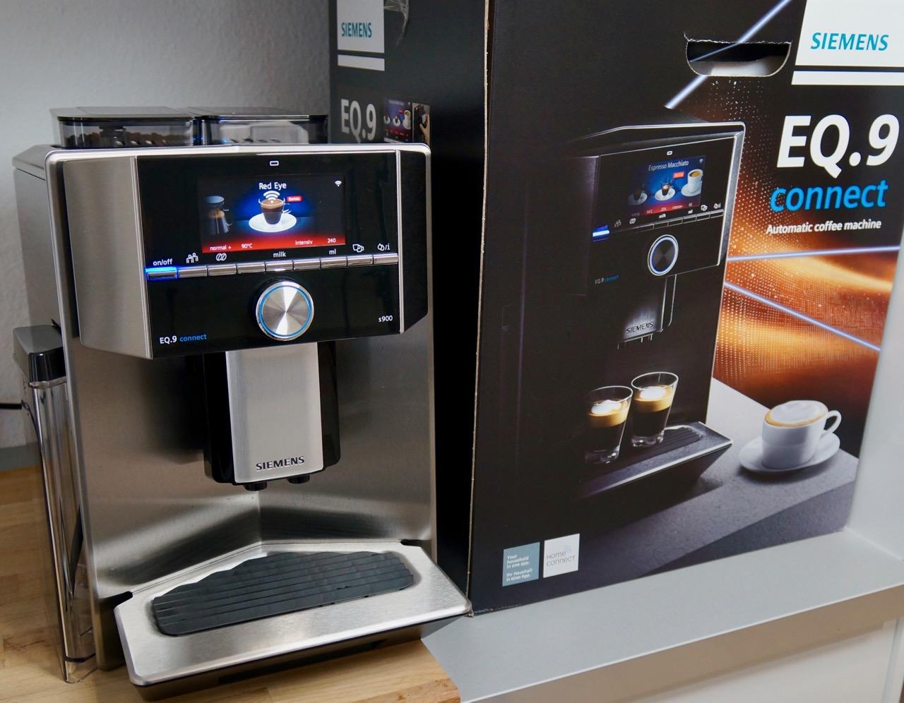 siemens eq 9 connect im test 1 der vernetzte kaffeevollautomat. Black Bedroom Furniture Sets. Home Design Ideas