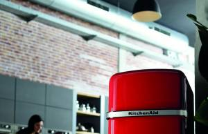 KitchenAid Kühlschrank Ironic Fridge im Retro-Look.