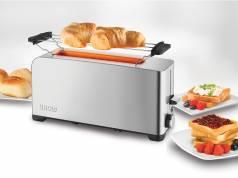 Unold Toaster Edelstahl 2er ist ein Langschlitz-Toaster für zwei Scheiben.