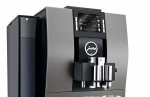Jura Kaffeevollautomat Z6 Dark Inox mit anthrazitfarbener Top- und Frontpartie.