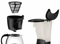 Unold Kaffeemaschine Easy Black mit Dauerfilter.