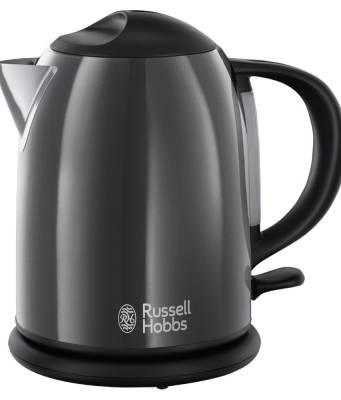 Russell Hobbs Colours Plus+ Kompakt-Wasserkocher mit einem Liter Fassungsvermögen.