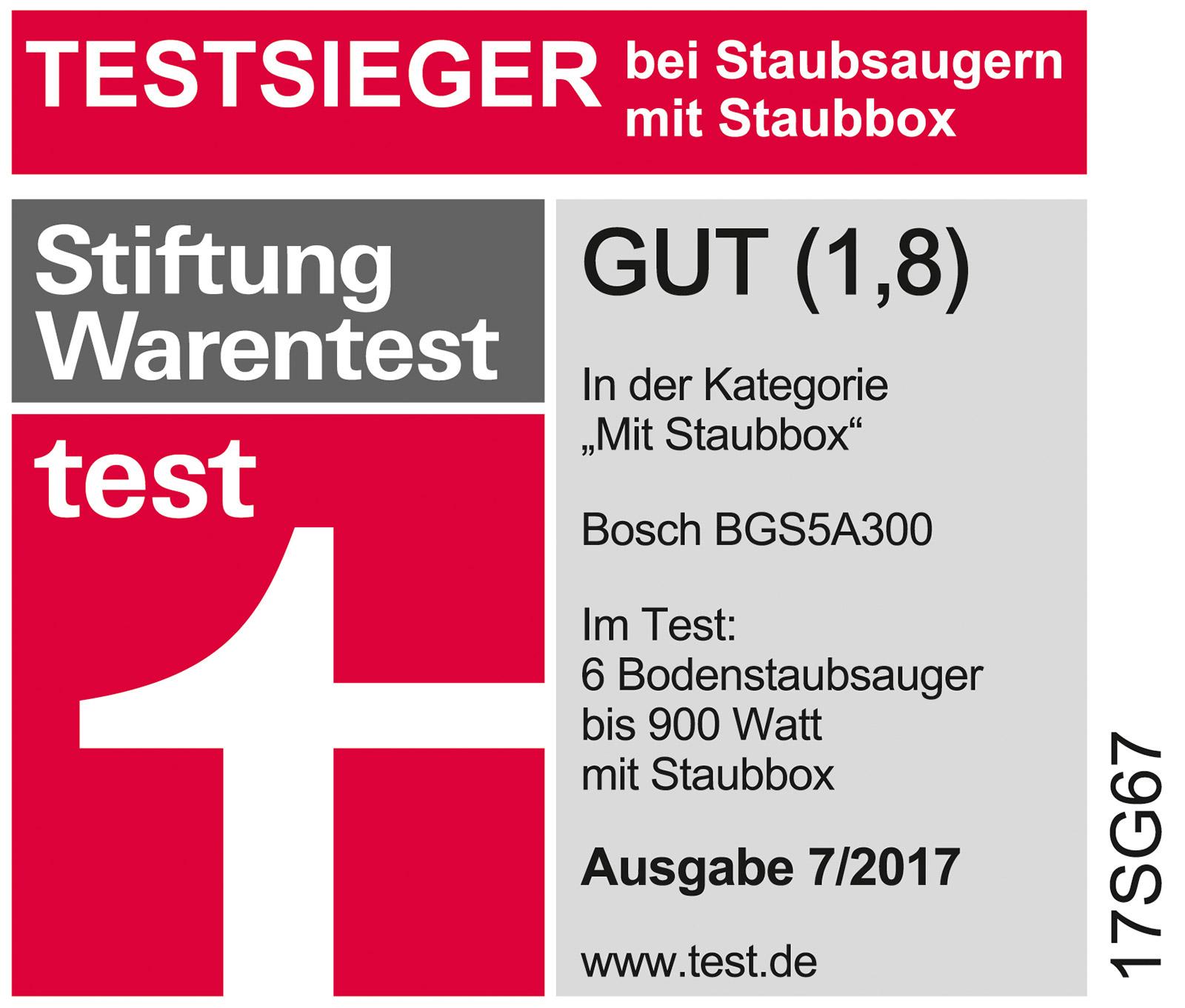 Stiftung Warentest Siegel Bosch