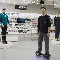 """Megatrend vernetzte Fitness: Natürlich hat Saturn Connect die passenden Angebote – und Berater, die auch den """"Smart Scooter"""" beherrschen."""