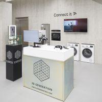 Auch vernetze Hausgeräte für Küche und Waschküche zählen zum Angebot der Kölner Filiale.