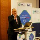"""Hans Wienands, Vorsitzender des ZVEI Fachverbandes Consumer Electronics, in seinem Grußwort: """"Der BVT/ZVEI Branchendialog ermöglicht einen sinnhaften und notwendigen Austausch von übergeordneten Branchenthemen."""""""