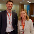 Sind über den Erfolg der WMF-Küchenminis mehr als zufrieden: Martin Ludwig, Geschäftsführer der Elektrokleingerätesparte der WMF Group mit Marketingleiterin Andrea Bender.