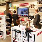Der KitchenAid-Shop ist mit einem interaktiven Bildschirm ausgestattet.